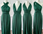 Multiway Infinity Bridesmaid Dress for Weddings Forest/Hunter Green Multiway Bridesmaid Dress for Weddings