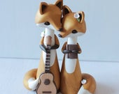 Fox Wedding Cake Topper personalised wedding cake topper and keepsake, perfect for woodland wedding figurine by Heartmade Cottage