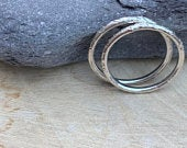 Skinny silver textured hammered ring band, sterling silver. 1.5mm thick or super skinny 1mm. Also in copper.