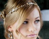 Bridal Headband floral hairvine Boho Headband