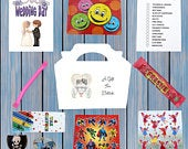 Personalised Childrens Kids Wedding Activity Pack Party Bag Favour Favor Box WB5