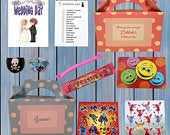 Personalised Childrens Kids Wedding Activity Pack Party Bag Favour Favor Box