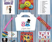 Personalised Childrens Kids Wedding Activity Pack Party Bag Favour Favor Box WB7