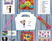 Personalised Childrens Kids Wedding Activity Pack Party Bag Favour Favor Box WB3