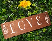 Love Sign Wood Wedding Rustic Prop