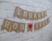 Engaged Bunting Banner Garland. Engagement Bunting Banner Garland, NEXT DAY posting.