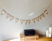 Personalised Wedding Bunting banner.Mr Mrs. Bride and Groom