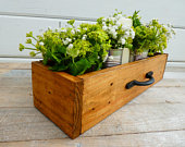 Rustic Reclaimed Timber Centerpiece / Pallet Box / Wedding Table Centerpiece / Rustic Herb Planter / Trough / Flower Box / Succulent Planter