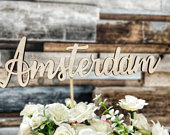 Wooden wedding table Names, Rustic Wedding Centrepiece, wedding table decor, table name, rustic table name