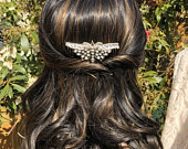 Vintage Butterfly Hair Comb Lucite Diamante Bridal / Wedding /Bridesmaid/ Prom Hair Accessories