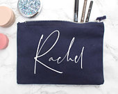 Personalized Gifts Custom Make Up Bag with Personalised Name Unique Gifts for Women Wedding Party Gift Secret Santa Gift
