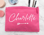 Custom Make Up Bag with Personalised Name Unique Gifts for Women Wedding Party Gift Personalised Mum Gift