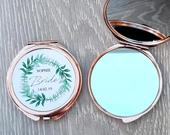 Personalised Bride Compact Mirror, Will You Be My Bridesmaid / Maid of Honour Proposal Gift, Pocket Mirror, Bridal Gifts