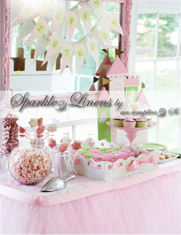Tulle Tutu Table Skirt, Satin Swag, Lace Lighting Accessories