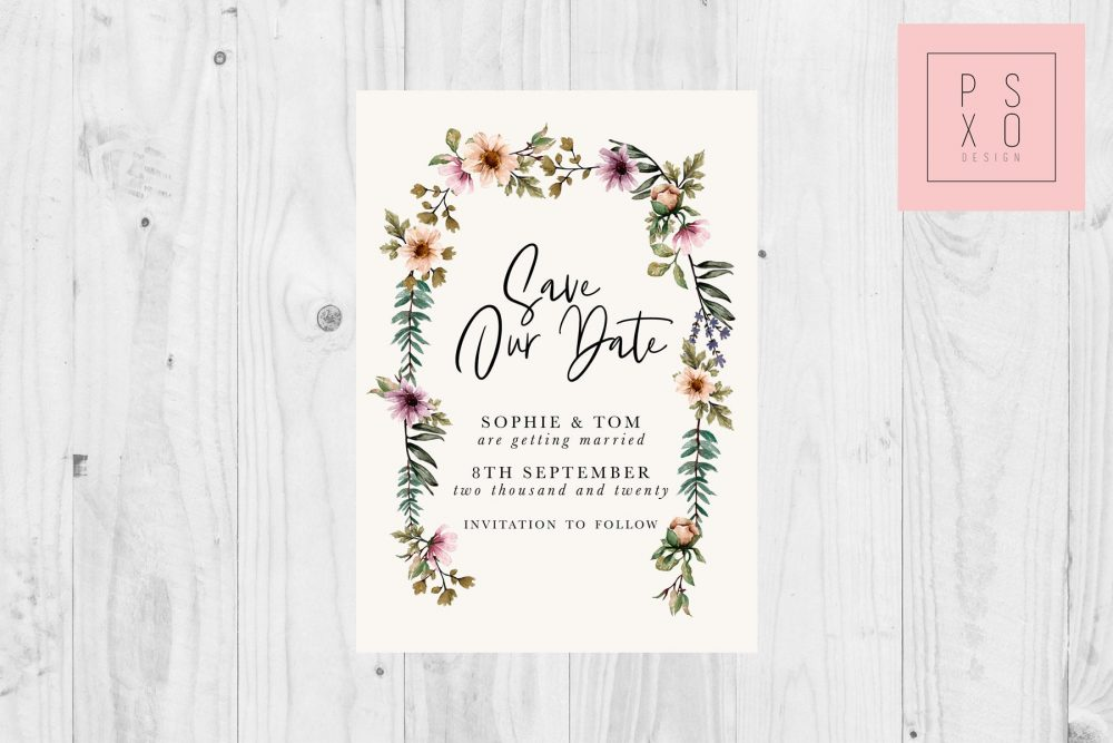Save The Date Magnets/Rustic Floral Arch Autumn Wedding Vintage Magnet