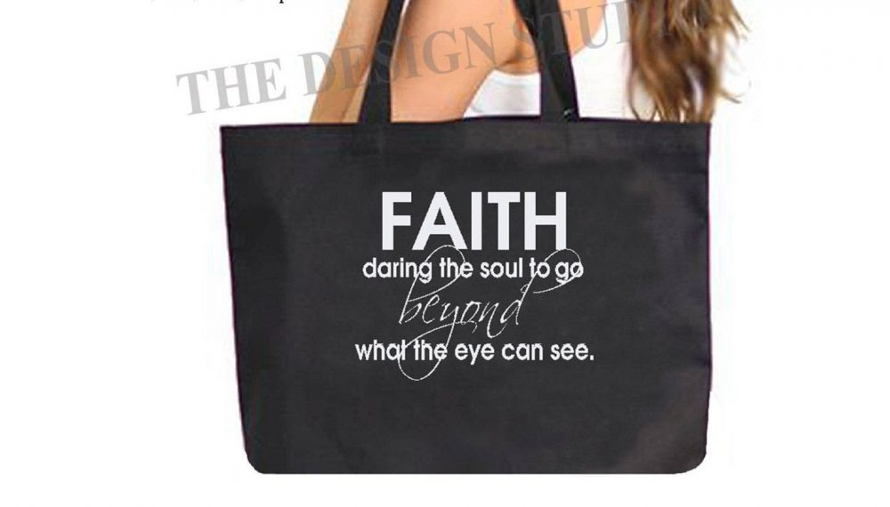 Scripture Tote Bag, Teachers Religious Gifts, Gifts For Mom, Custom Book Bible Faith, Swag Bag