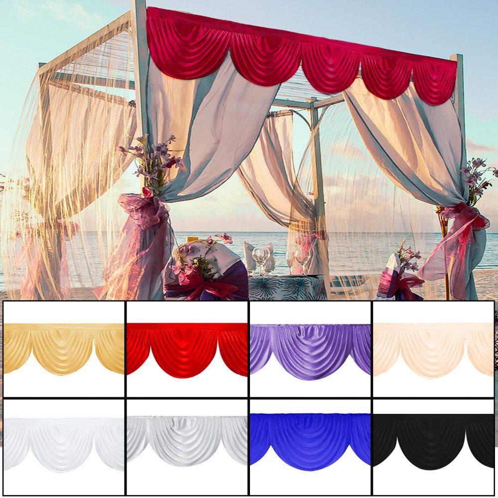 3 Meter Ice Silk Detachable Swag For Wedding, Party, Event, Birthday, Christmas, Photo Studio, Special Festival, Window Decor