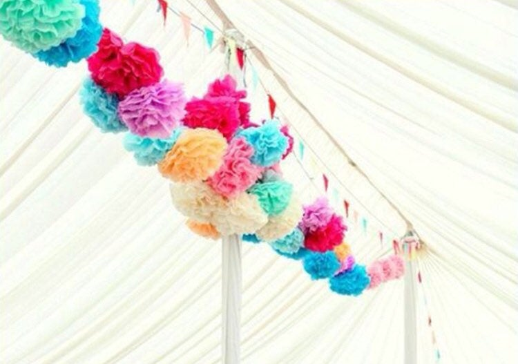 30 Custom Colors Bulk Tissue Paper Pompoms Wedding Aisle Arch Ceremony Decorations Birthday Party Baby Bridal Shower Bar Bat Mitzvah Tent