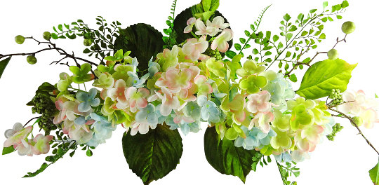 """26"""" Hydrangea Swag - Flower Garland For Wedding Arch Floral Decor, Home Party Flowers Outdoor Wedding, Blue"""