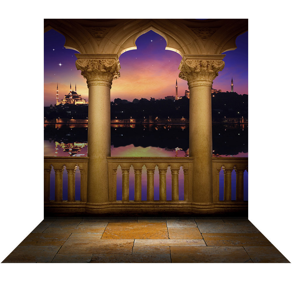 Arabian Nights Aladdin Wedding & Birthday Photo Booth Party Decor, Princess Jasmine Moroccan Balcony Arch, Backdrop