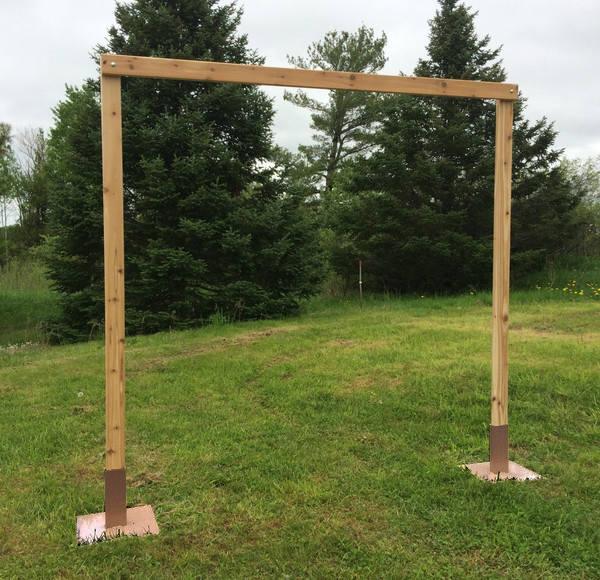 3 Piece Cedar Wedding Arch