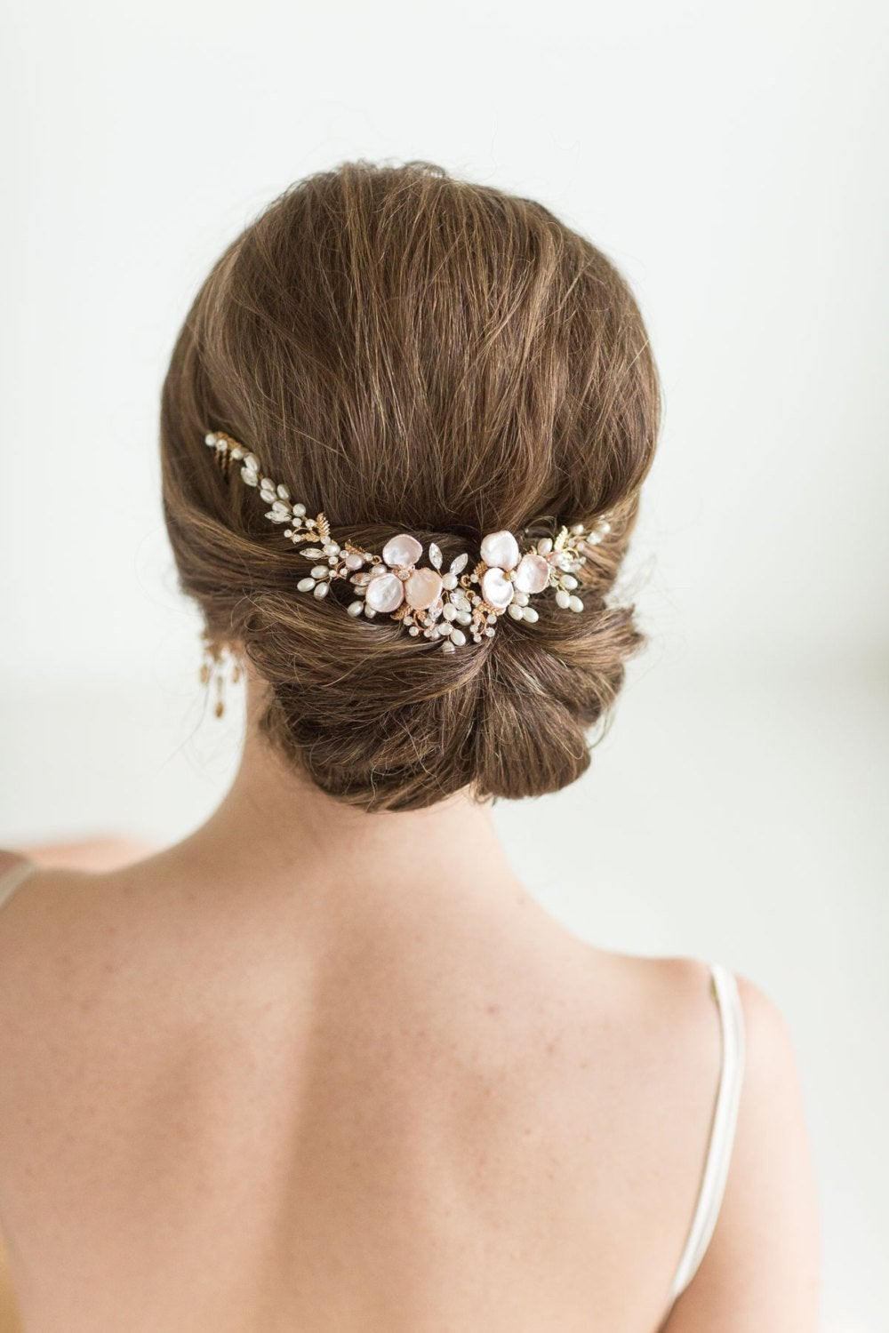 Wedding Hair Vine, Bridal Headpiece Freshwater Pearl, Pearl Swag, Comb
