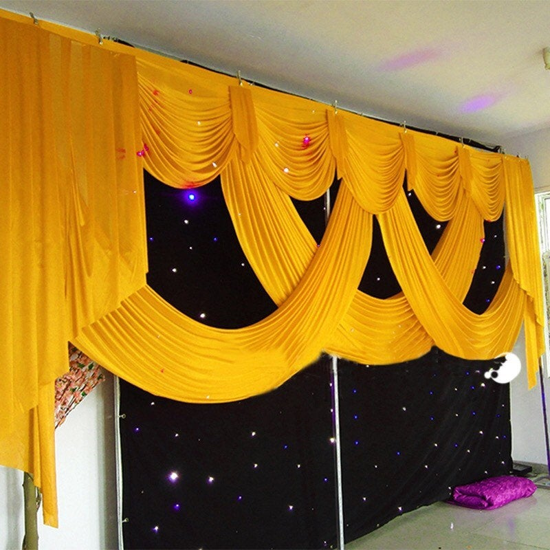 20Ft Long Elegant & Luxury Wedding Backdrop Swags. Swags Only. Color Size Can Be Customized