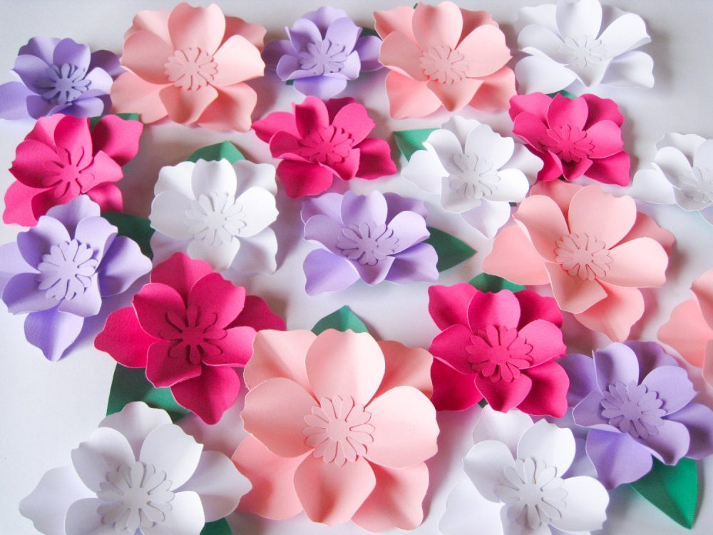 25 Small Paper Flowers, Box Topper Wedding Arch, Nursery Wall Decor, Backdrop Baby Shower Decor