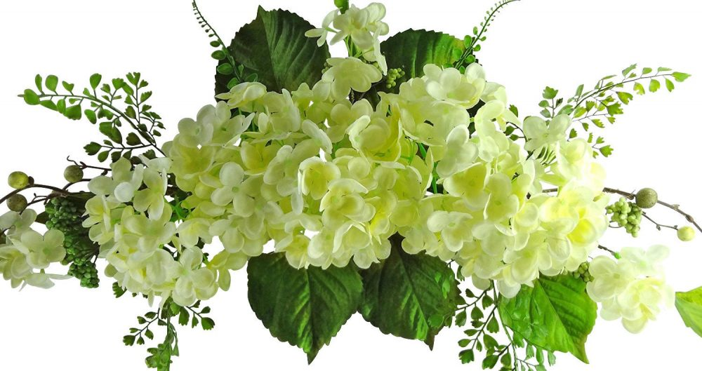 """26"""" Cream Hydrangea Swag - Flower Garland For Wedding Arch Floral Decor, Home Party Decor, Flowers Outdoor"""