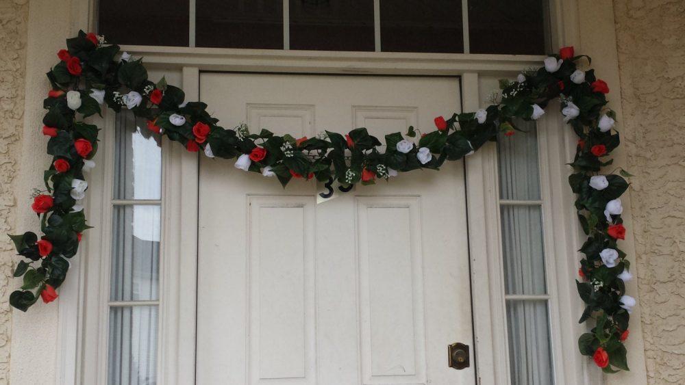 12Ft Customized Garland & Vine Floral Silk Rose Leaf Arch Wedding Banners Decoration