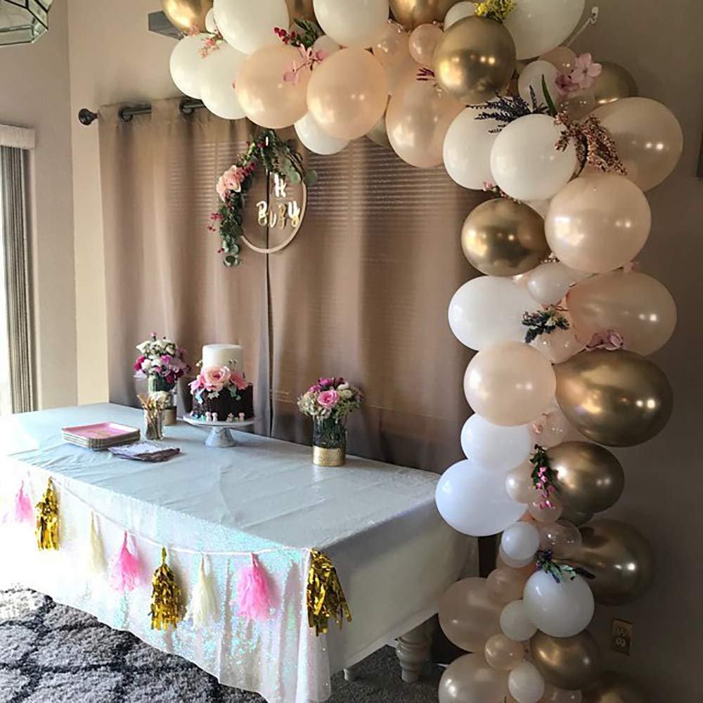 16 Ft Blush Balloon Garland Kit, Rose Gold & Chrome , Blush Kit With Confetti Balloons, Arch, Boho Party Decor