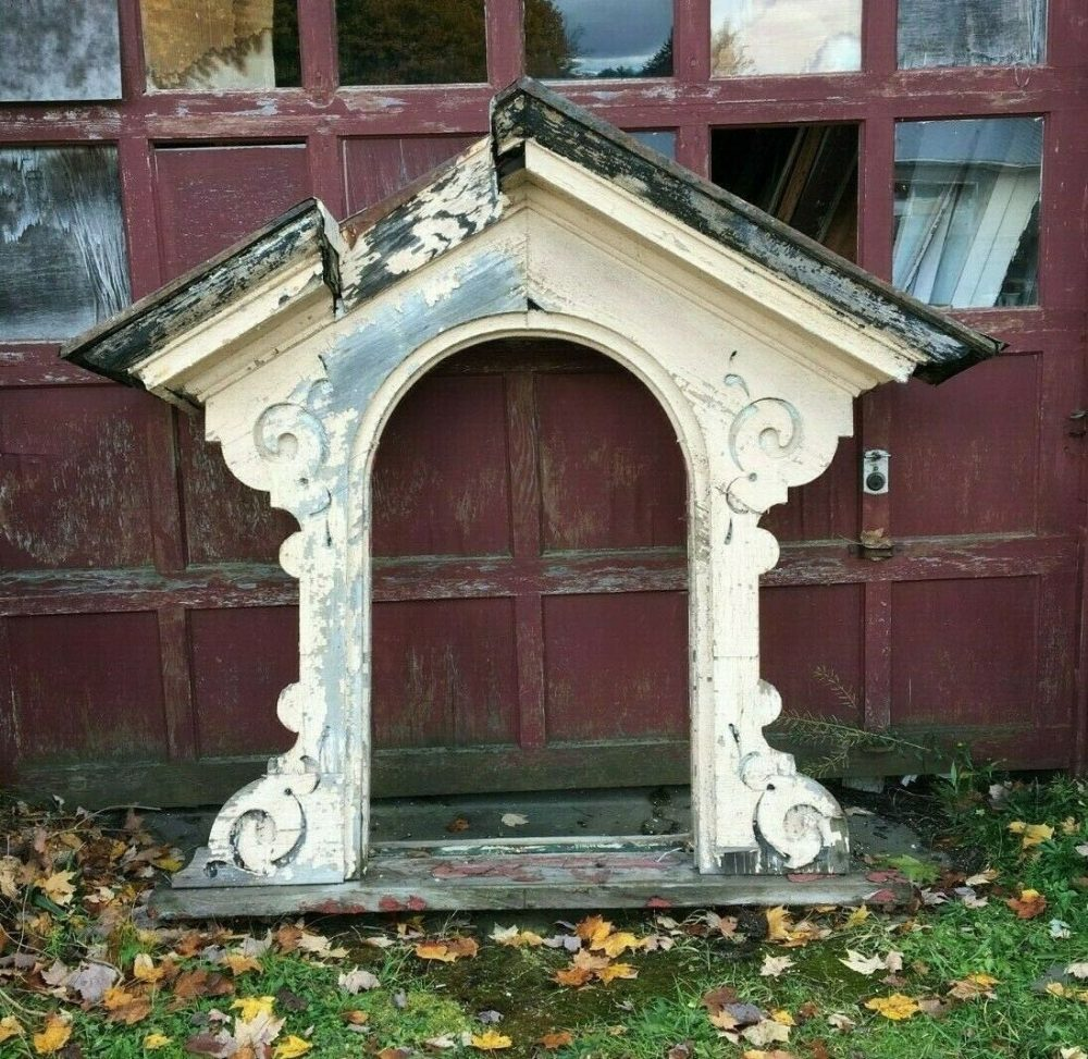 Antique Arch Mansard Dormer Window Pediment Vtg Architectural Salvage 321-19J Pick Up Only