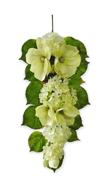 "30"" Hydrangea Magnolia Teardrop - Flower For Wedding Arch Floral Decor, Home Party Decor, Flowers Garland Outdoor Wedding, Cream"