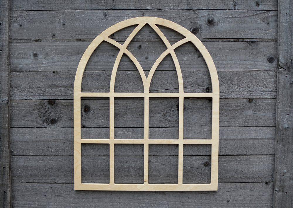 Arched Cathedral Window Frame, Farm Home Decor, Wood Arch Craft, Farmhouse, Wreath Hanger