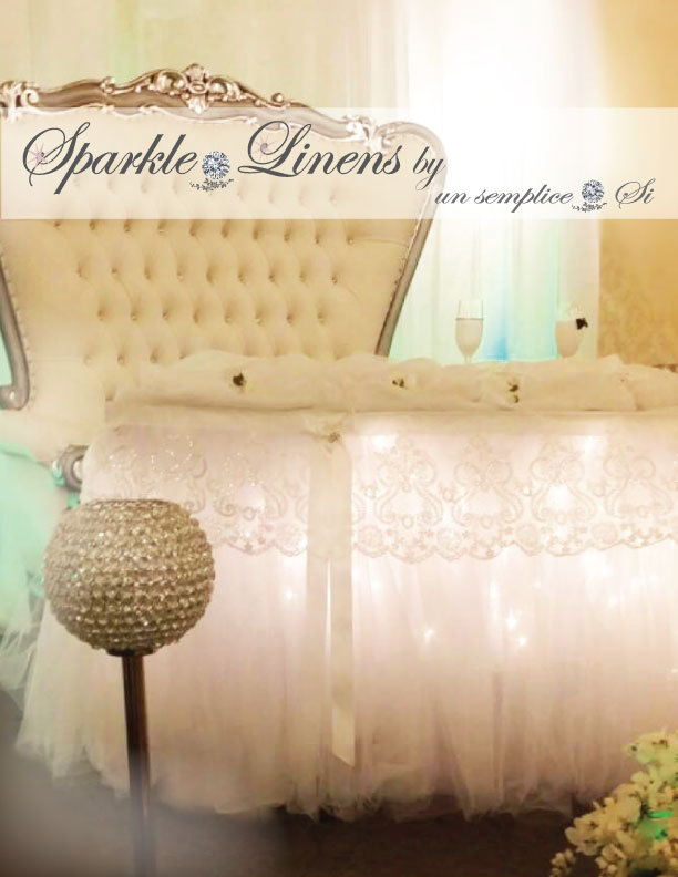 Tulle Tutu Table Skirt With Lace Swag, Lighting Accessories
