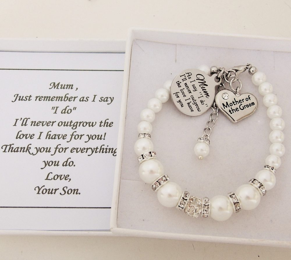 """As I Say """" Do I'll Never Outgrow The Love Have For You Mum Bracelet Mother Of Groom Wedding Favor From Jewelry"""