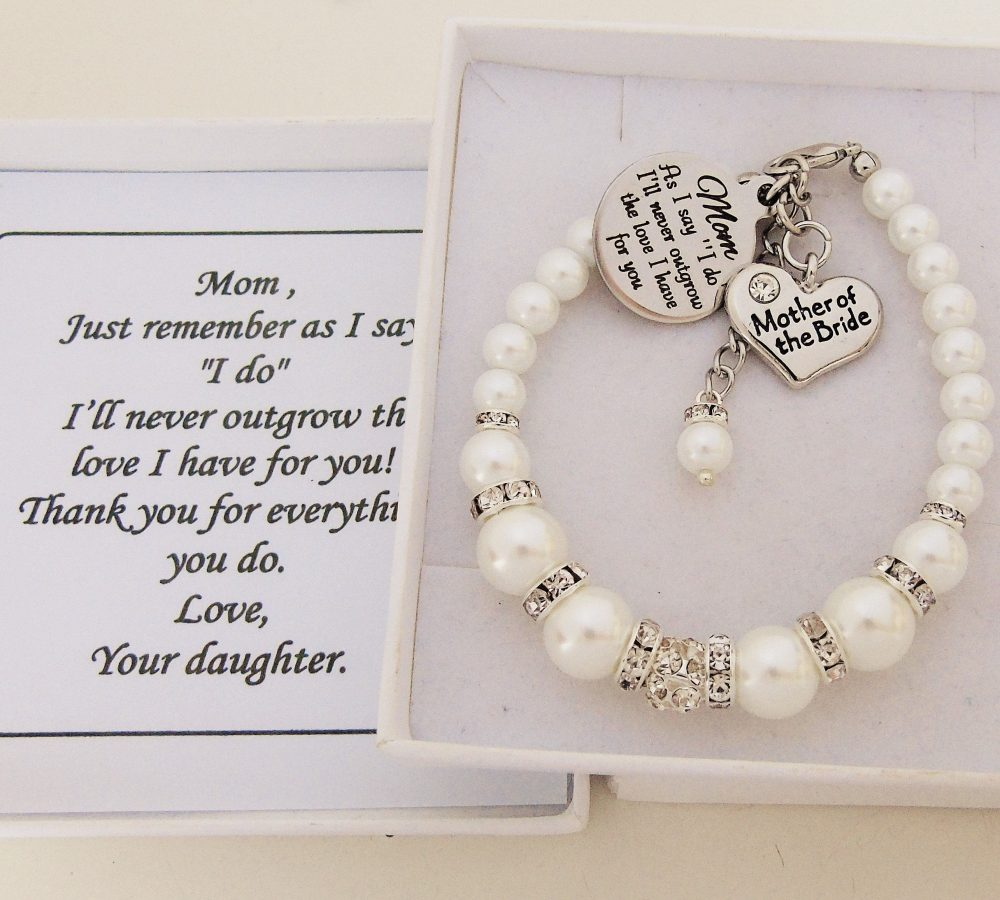 """As I Say """" Do I'll Never Outgrow The Love Have For You Mom Bracelet Mother Of Bride Wedding Favor From Bride Jewelry"""