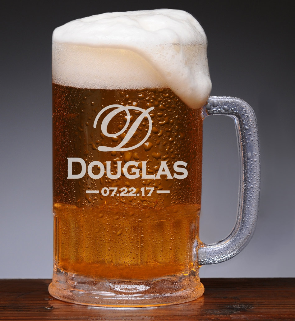 Personalized Beer Mug, Etched Groomsmen Glasses, Wedding Favors, Proposal, Custom Gifts, Gifts For Him