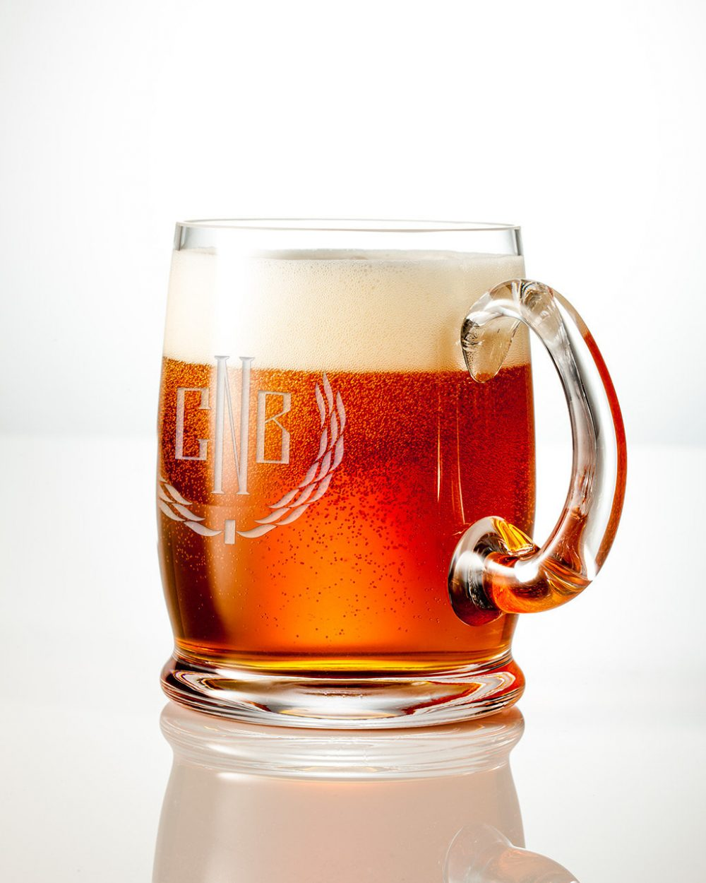 Large 18Oz Personalized Beer Mug - Engraved Craft Glass, Perfect Wedding, Groomsmen Or Valentines Gifts, Monogram Custom Design