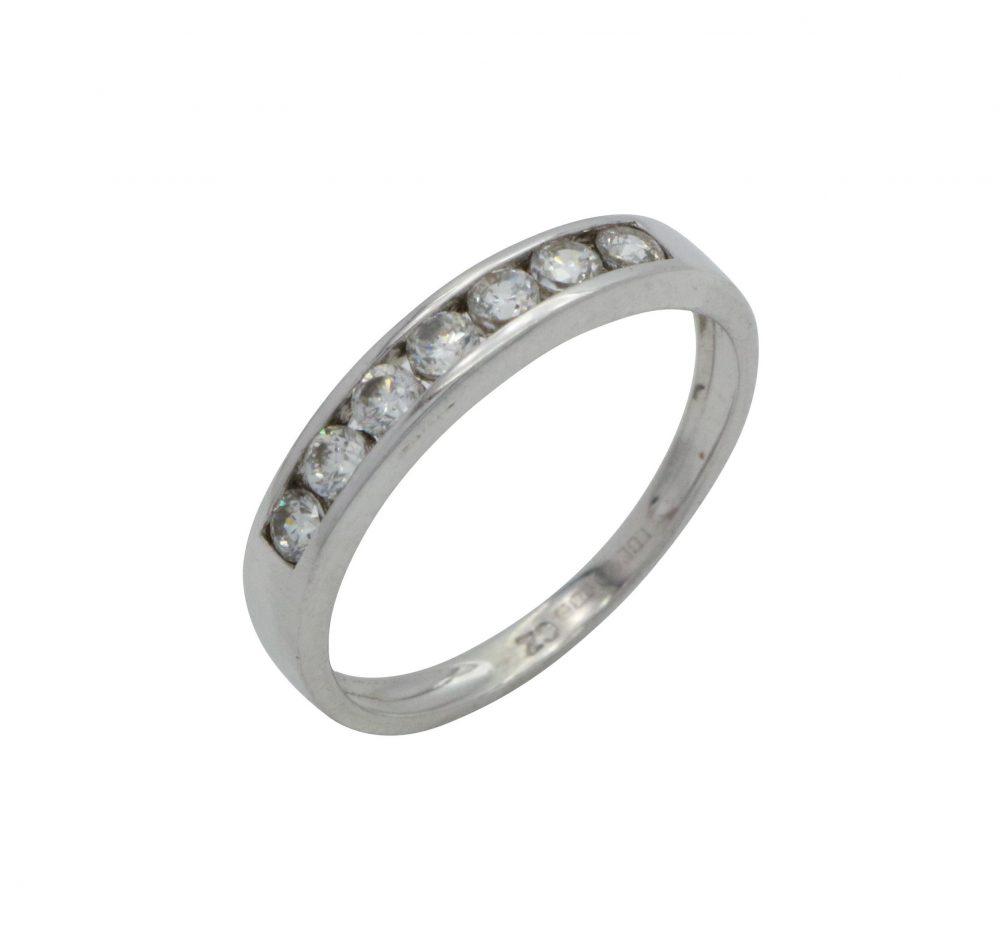 Half Eternity Band, Ring, Cubic Zirconia, Eternity, Zirconia Engagement, Cz Wedding Band