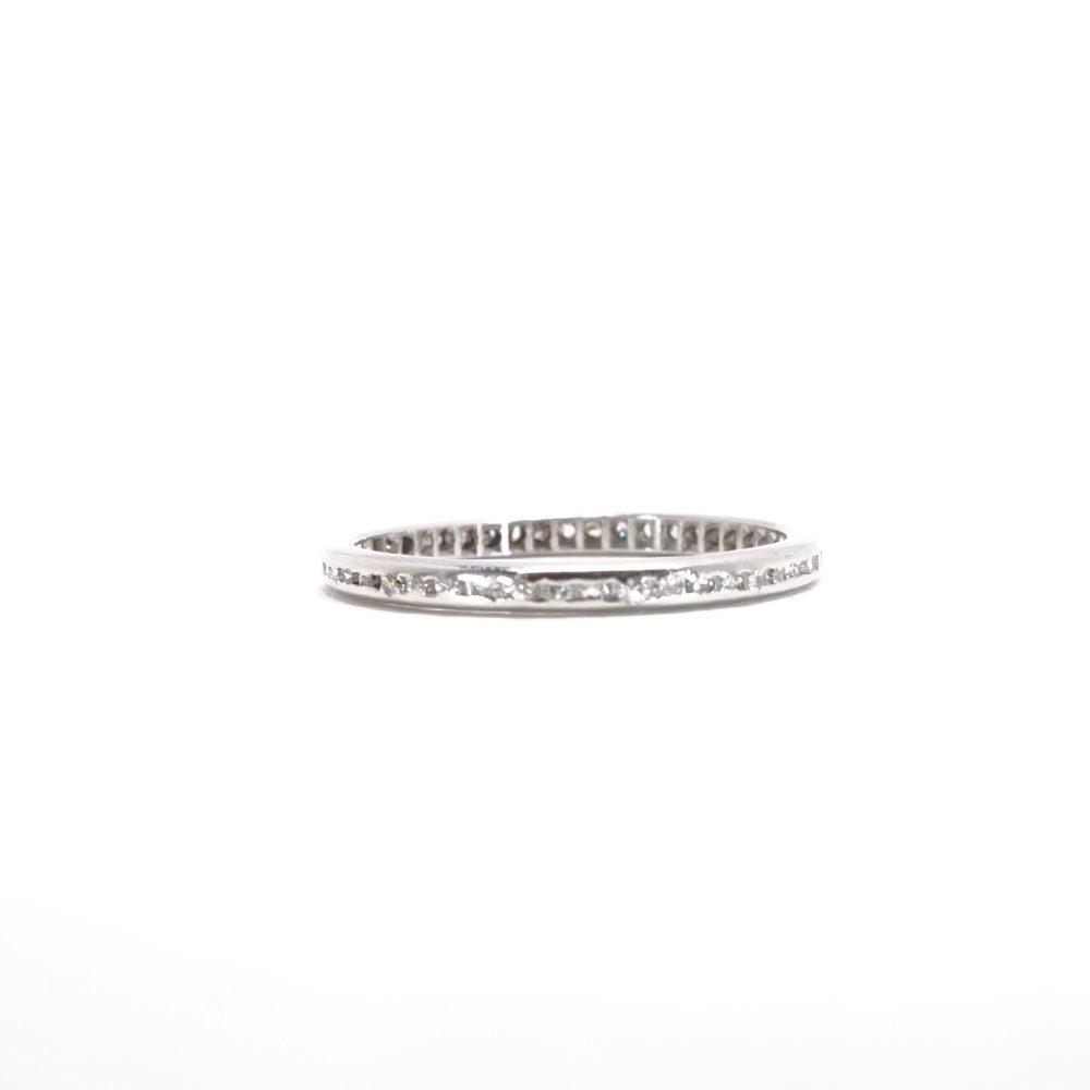 Eternity Band | Ring Platinum Vintage Diamond Art Deco Wedding Item 97918