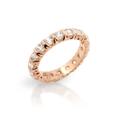 2 Mm Cz Eternity Band Ring. Eternity Silver Stackable Gold Rose Silver Gold Thick Ring