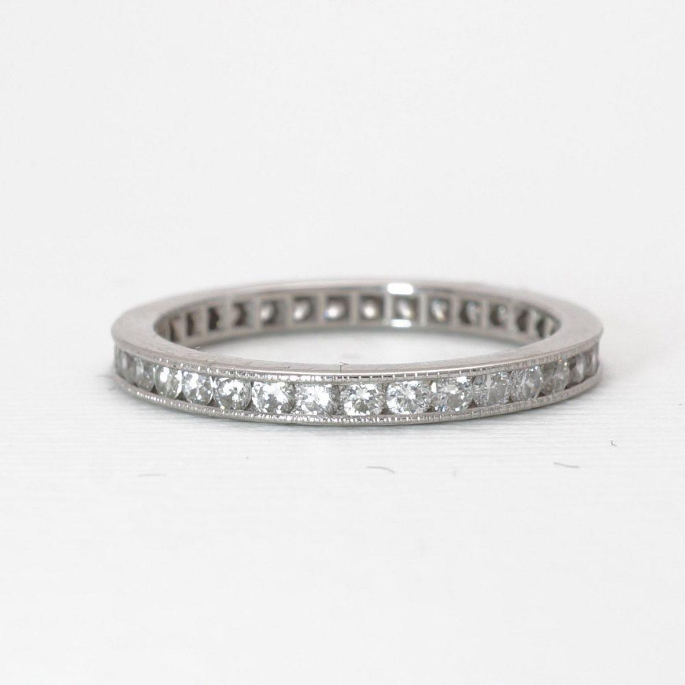 Vintage Eternity Band | Ring Platinum Diamond Wedding Item 84415