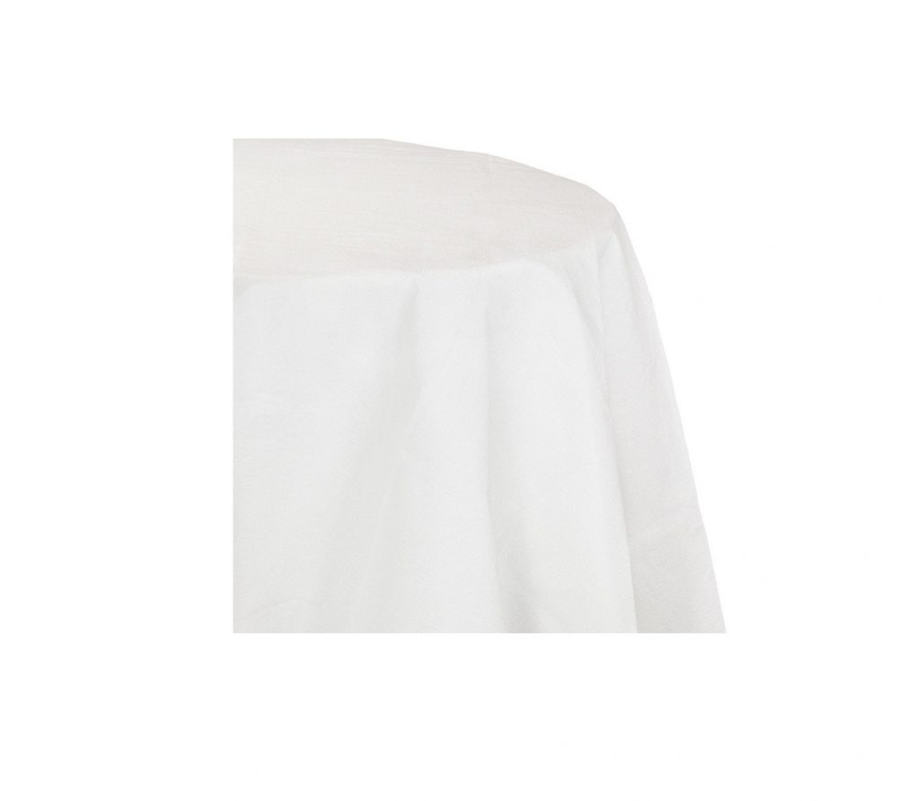 Round Tablecloth - White Tablecloth, Table Decoration, Wedding Table, Banquet Cloth, Linens, Tablecloths In