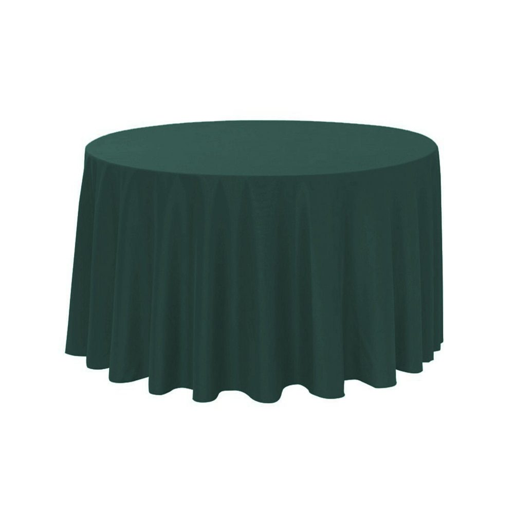 Hunter Green 108 Inch Round Polyester Tablecloth | Wedding Tablecloths, Banquet Tablecloths