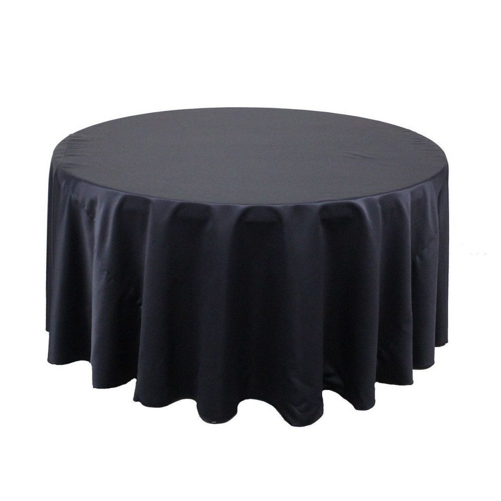 Navy Blue 120 Inch Round Lamour Tablecloth | Wedding Tablecloths, Banquet Tablecloths