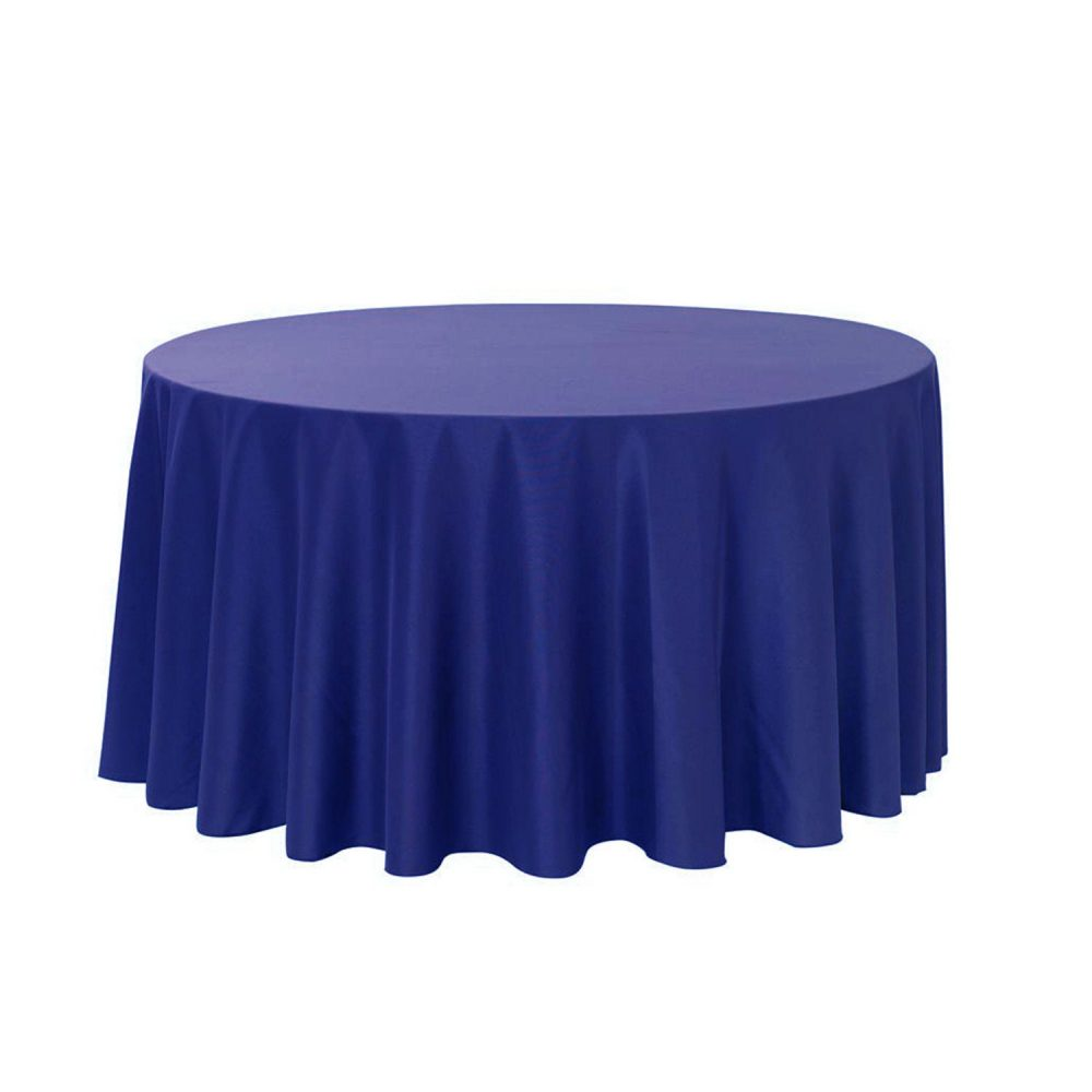 Royal Blue 108 Inch Round Polyester Tablecloth | Wedding Tablecloths, Banquet Tablecloths