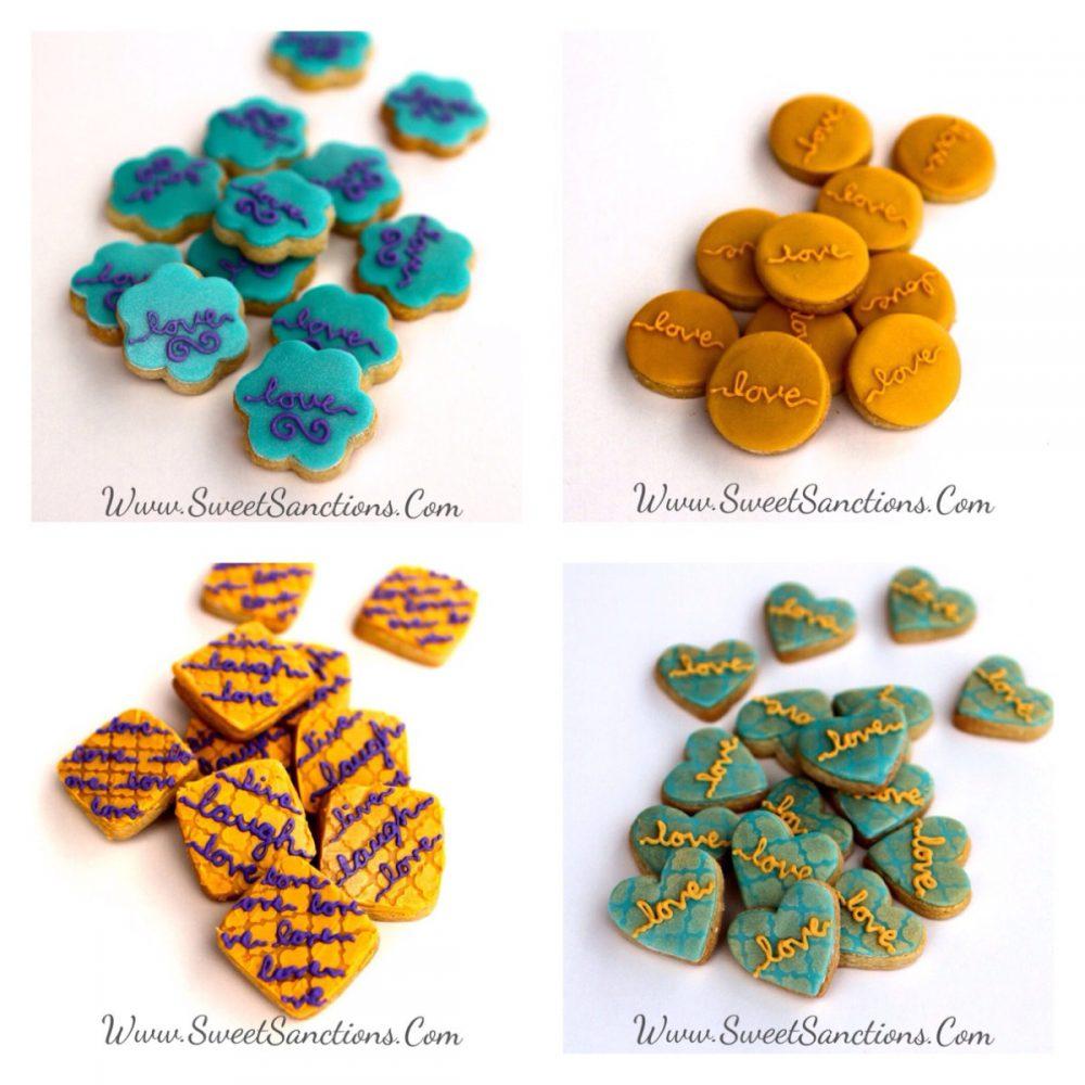 1 Dz. Mini Customizable Wedding Cookies Favors, Bridal Showers & More
