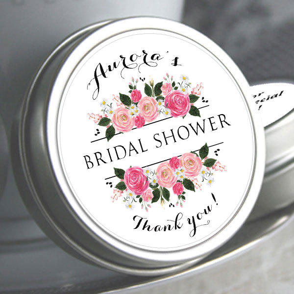 100 Bridal Shower Mint Tins, Personalized Favor To Be Wedding Favor, Tin Favors