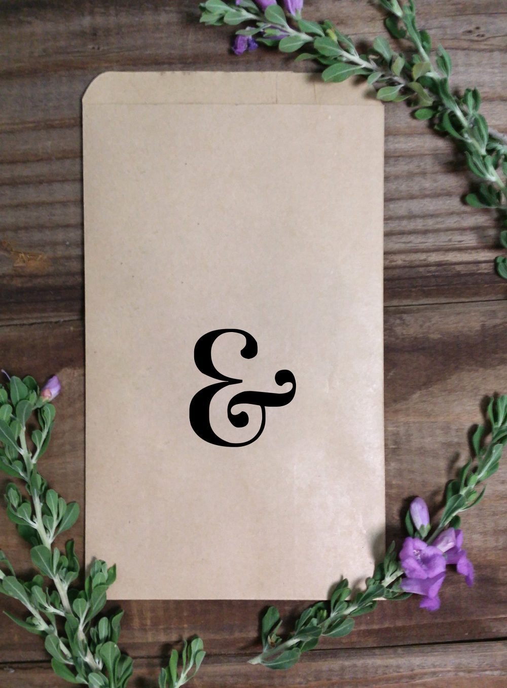 Ampersand & Favor Wedding Treat Bags, Goodie Country Wedding, Kraft Brown With Love, Rustic Popcorn, Candy